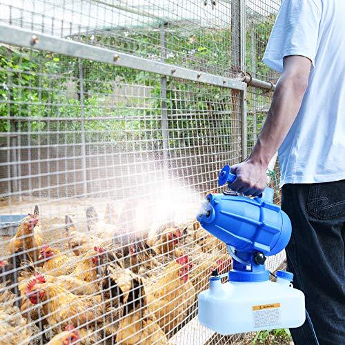 TOPQSC Elettrico Disinfettante Spruzzatore, 5L ULV Fogger Portatile Nebulizzatore Nano Macchina Nebulizzatore Killer, Nebulizzatore Intelligente Spruzza Spruzzatori industriali per irrigazione