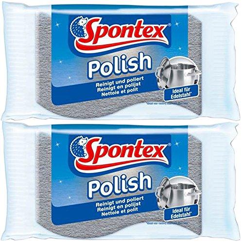 Spontex 19321001 acciaio inossidabile Cleaner (doppio) (2 pezzi)