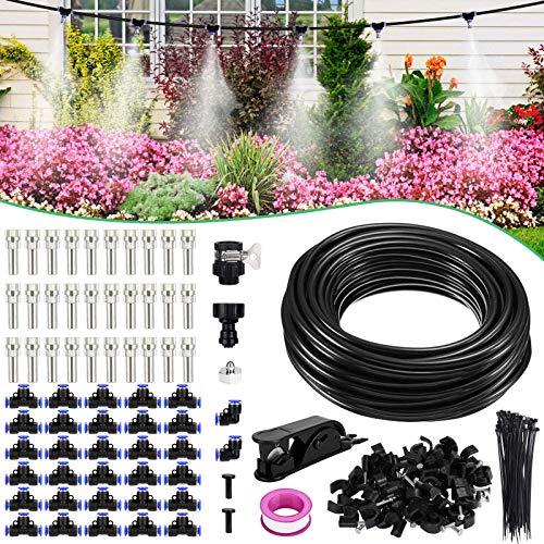 XDDIAS 24m Nebulizzazione per Esterni, Automatico Sistema di Irrigazionekit di Nebulizzatore da Giardino Esterno Terrazzo - 30 X Ugello