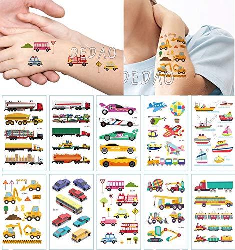 BLOUR 10pcs Bambini Tatuaggi temporanei Fiore Carino Fata Adesivo Tatuaggio Finto Angelo Tatoo Impermeabile Tatto Mano Braccio Arte Tatuaggio per Ragazza