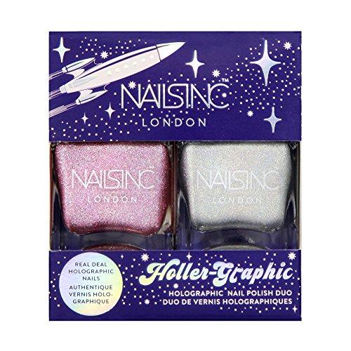 Nails Inc Confezione doppia di smalti per unghie olografici