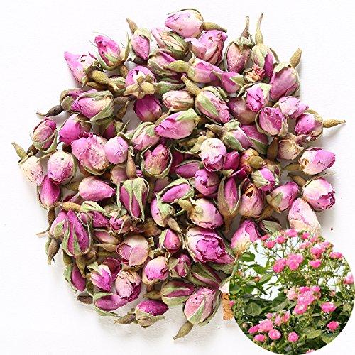 TooGet Rosa Fragrante Naturale Rosa Germogli Petali di Rosa Essiccato Rosa Damascena all'Ingrosso, Cibo Commestibile - 60g