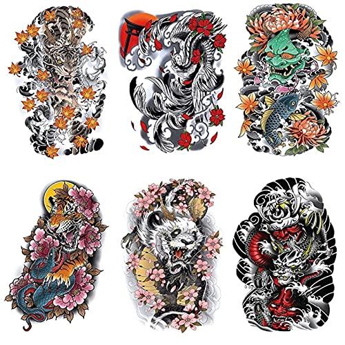 Personalità tatuaggio temporaneo tatuaggio autoadesivi colore tigre fiori di ciliegio filigrana simulazione temporanea simulazione tatuaggi adesivi for uomo omen impermeabile rimovibile for bambini ad