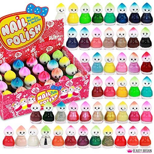 Set di 48 Smalti Per Unghie 48 Colori Diversi Forma di Bambola 5 ml