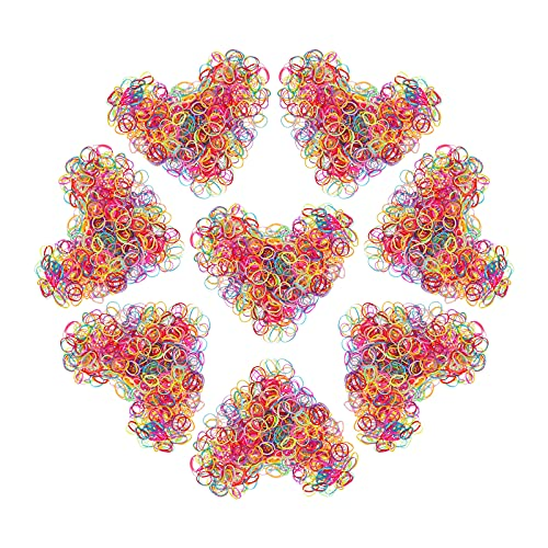Confezione da 1000 Mini Fasce Elastiche per Capelli Piccoli per Capelli per Bambini, Acconciatura da Sposa, Piccoli Dreadlock e Altro Ancora (Colour)