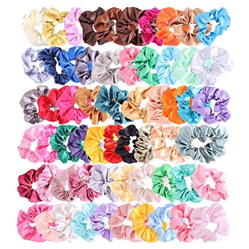 60 elastici colorati per capelli, elastici a tenuta forte, per coda di cavallo, per ragazze, accessorio per capelli da donna