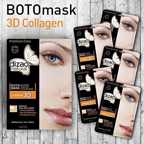 DIZAO Natural Collagene 3D (faccia, collo, palpebre). 5 maschere.
