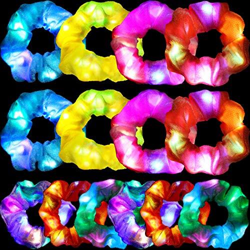 14 Pezzi Scrunchy Capelli Luci a LED Scrunchy LED in Velluto Elastici per Capelli Luminosi Morbidi Fermacoda Cravatte Capelli Accessori per Donne Ragazze Festa di Compleanno, 7 Colori