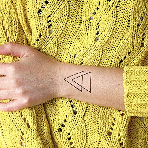 Doppio Triangolo - Tatuaggio temporaneo (Set di 2)