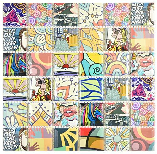 Piastrelle a mosaico colorate in stile retrò POP UP ART Design moderno