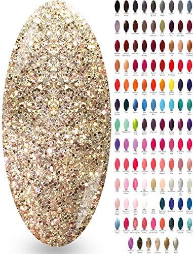NYK1 Smalto Gel Semipermanente Soak Off per UV o LED - Smalto per Manicure in MIlle Colori con Effetto Gloss Brillante - Smalti Semipermanenti per Unghie, Ideali da Combinare a Top Coat e Base Shellac