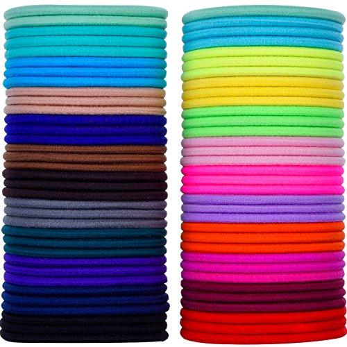 eBoot 69 Pezzi 3mm Multicolore Capelli Elastic Fasce per Capelli Nessun Metallo Dolci Elastici