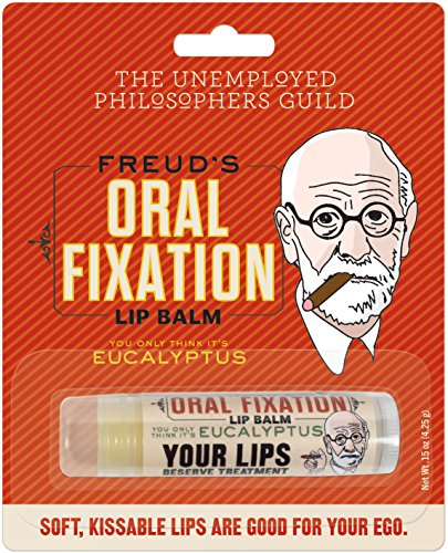 Unemployed Philosophers Guild Sigmund Freud's Oral Fixation Lip Balm - Made in The USA by The