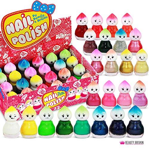 Set di 24 Smalti Per Unghie 24 Colori Diversi Forma di Bambola 5 ml (Set B)