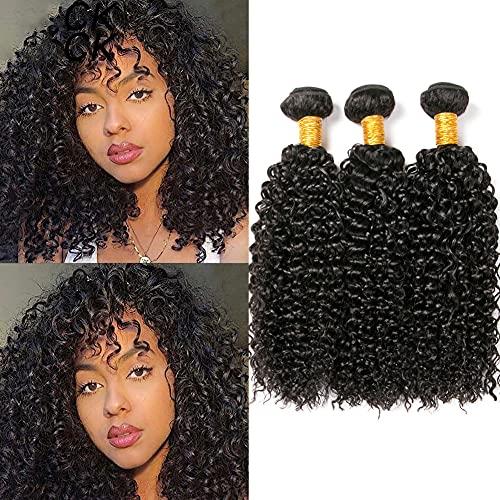 LAdiary capelli umani ricci extension capelli veri tessitura 3 fasci di capelli umani brasiliani capelli ricci extension veri totale 300g 10 12 14 pollici