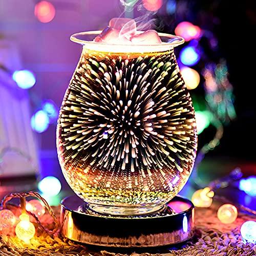 3D Lampada per aromaterapia, lampada aromatica sensibile al tocco, bruciatori elettrici per scioglimento della cera, bruciatore a olio e diffusore di olio per camera da letto dellufficio domes