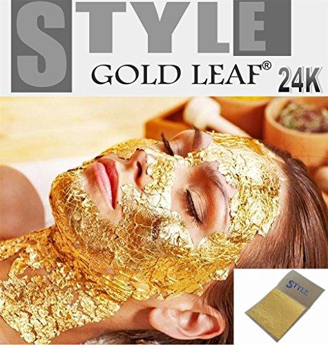 20 fogli d'oro 24 K puro 99,9% per la cura del viso anti-età 35 mm x 35 mm