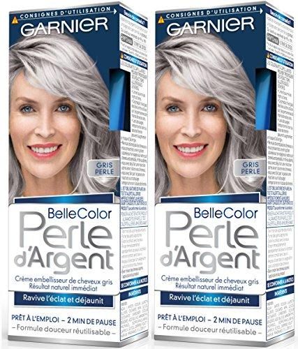 Garnier–Belle Color–Perla D' argento–Crema déjaunisseur Lucentezza Capelli Grigio Grigio–Grigio Perla–Set di 2