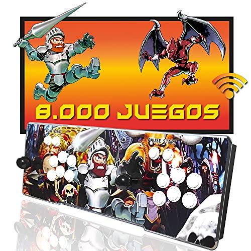 Pandora Box WiFi 8000 giochi, capacità di installare più di 20.000 giochi, Retro Console macchina ricreativa Arcade, Joysticks Arcade, Mame, FBA, Neogeo, SFC, NES, GBA, MD,Dreamcast, GB, PSone, PSP