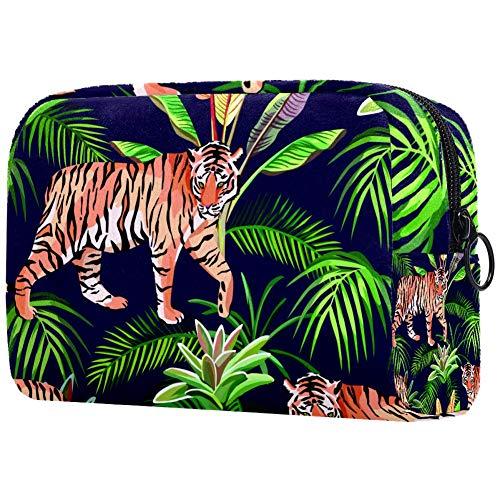 Tiger nella giungla - Beauty case portatile per trucchi e trucchi