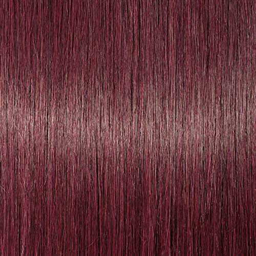 Elailite Extension Capelli Veri Clip Ricci Volumizzante - 8 Fasce Folte Double Weft Full Head 100% Remy Human Hair Mossi 45cm 140g #99J Vino Rosso