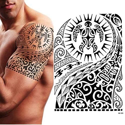 shiyueNB Tatuaggio TEMPORANEO Tribale Tribale Classico Nero Uomo Donna Maori