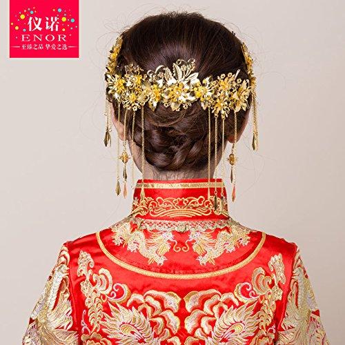 XPY&DGX Accessori per Capelli da Sposa E da Sposa Costume Nuziale Cinese Tiara Accessori per Capelli Suite Nuziale Abito Accessori Accessori Gioielli di Nozze
