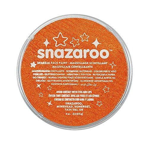 Snazaroo - Colore Per Viso 18ml Arancione Scintillante