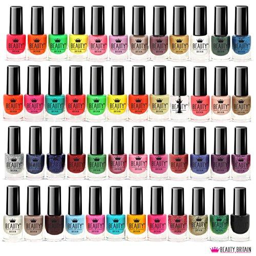 Set di 48 Smalti Per Unghie 48 Colori Diversi Moderna Bottiglia