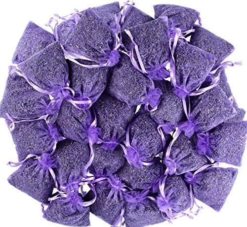 Leikaihua - Sacchetti profumati al 100% alla lavanda (7 x 9 cm), repellente per insetti e tarme per vestiti, cassetti, armadi, scarpe, viaggi, sonno, auto,