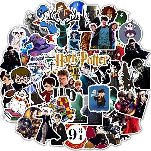 Pacchetto di Adesivi per Laptop 50 Pezzi, Adesivo di Harry Potter Adesivi Cool Unici Adesivo per Bombole d'Acqua Adesivo per Bambini di Skateboard per Chitarra