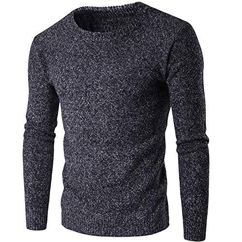 Lushi - Maglione da uomo in maglia ispessita Grigio scuro 2XL