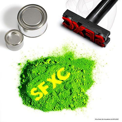 SFXC®, pigmento termocromico che cambia colore, per tinte, vernici e resine, dal viola scuro al rosa neon, 5g
