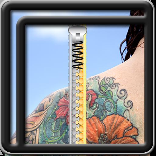 Zipper blocco Tatuaggio dello schermo